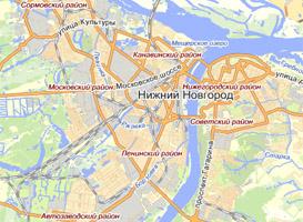 Нижний Новгород - территория доставки шашлыка от кафе Сим-Сим